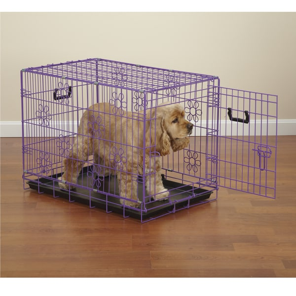 Small Purple Dog Crate
