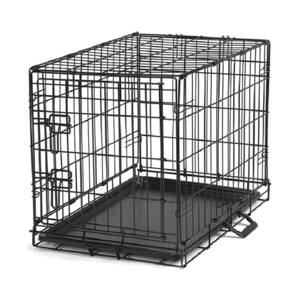 Black metal pet crate free shipping today overstock for Metal shipping crate
