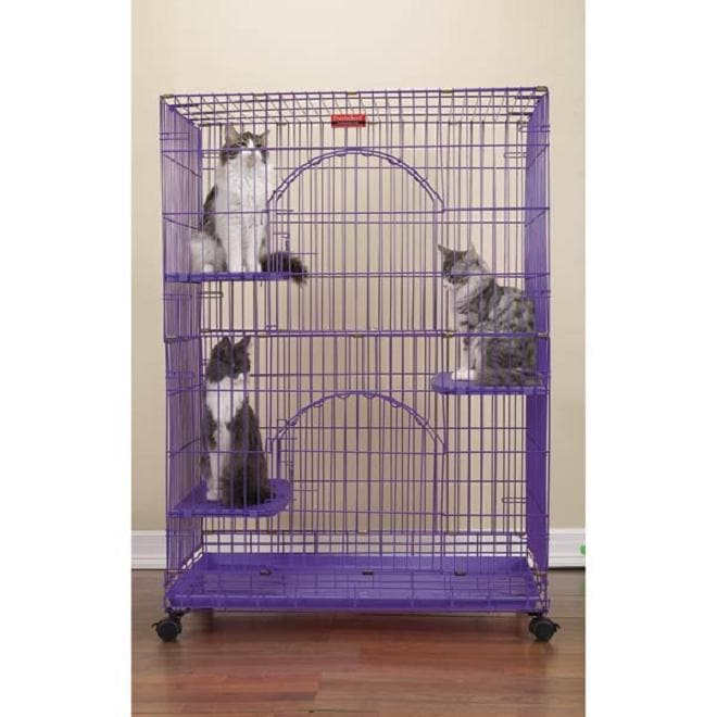 PROSELECT Purple Foldable Cat Cage (ZW33479)