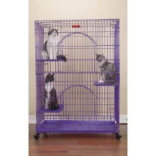 Proselect Purple Foldable Cat Cage