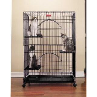 Proselect Black Foldable Cat Cage