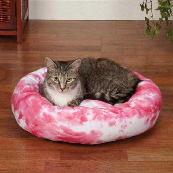 Slumber Pet Cozy Pink Tye Dye Kitty Bed