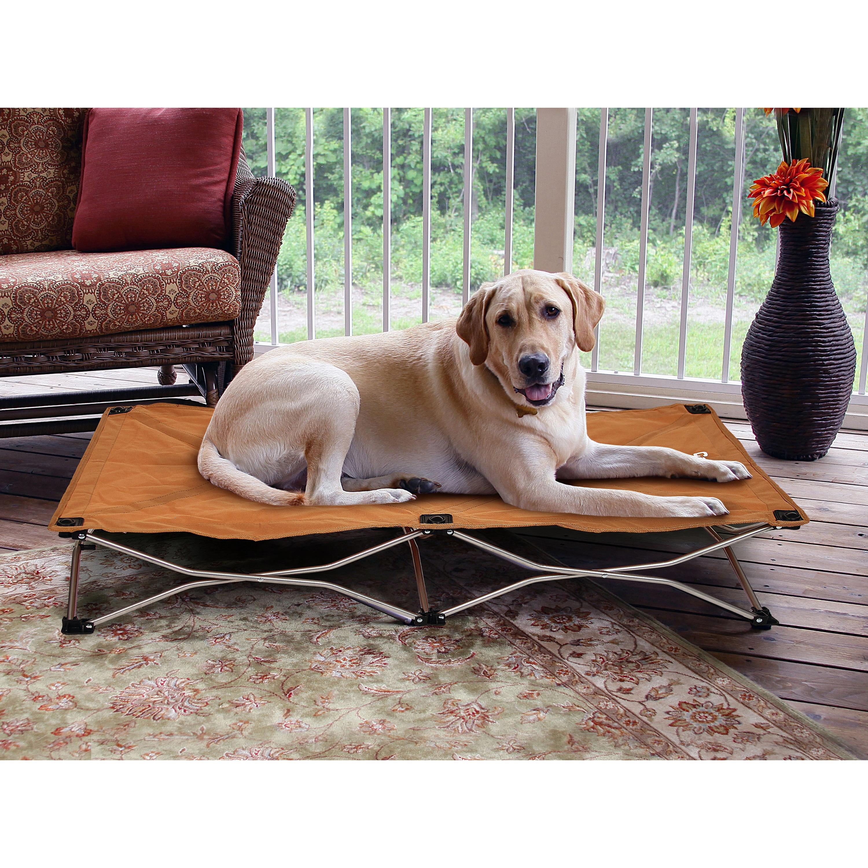 Carlson Portable Pup Large Pet Bed (Tan)