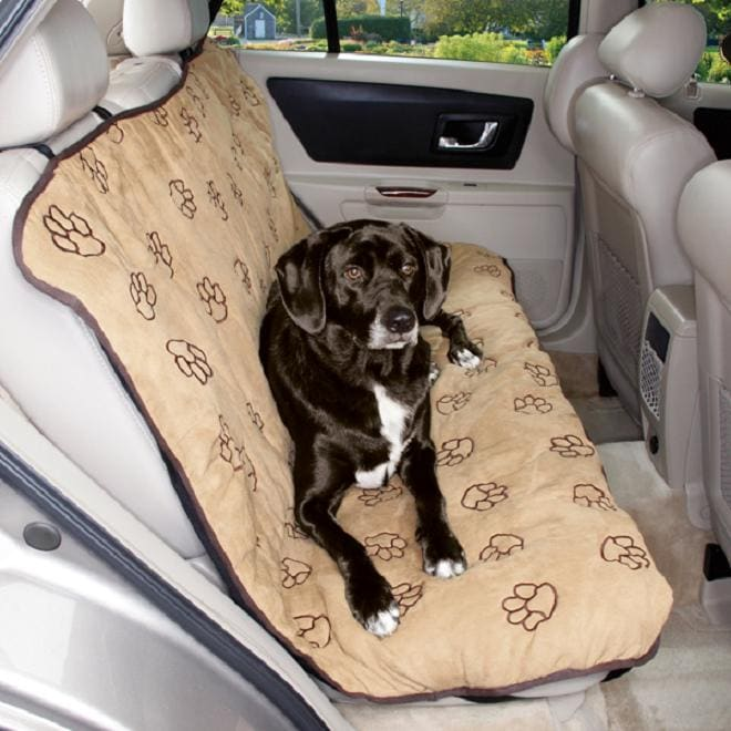 Cruising Companion Camel Pawprint Car Seat Cover (US02811)
