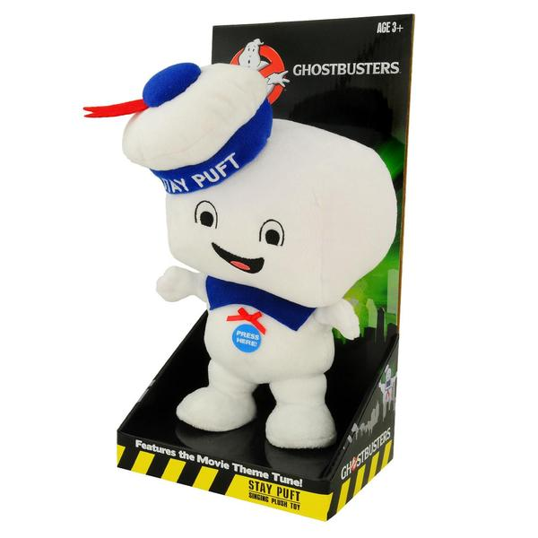 Ghostbusters: Stay Puft Marshmallow Man Talking Plush (Happy Face)