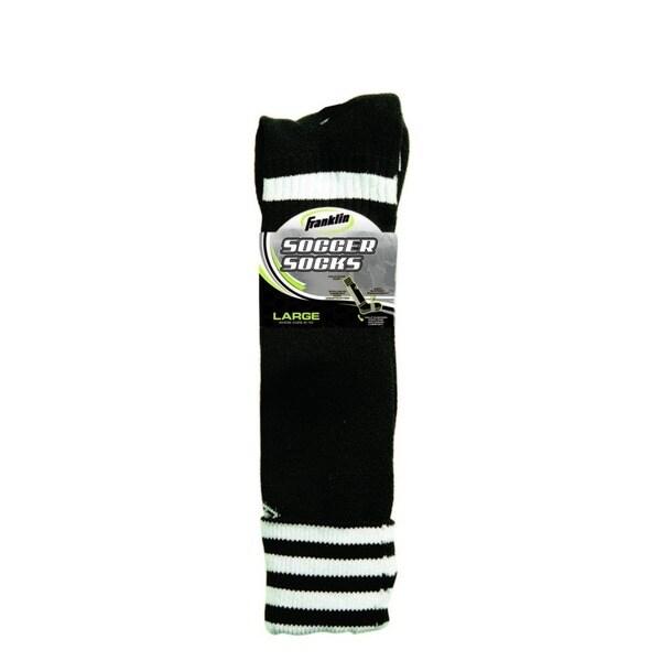 White/Black Youth Soccer Socks (Pack of 6)