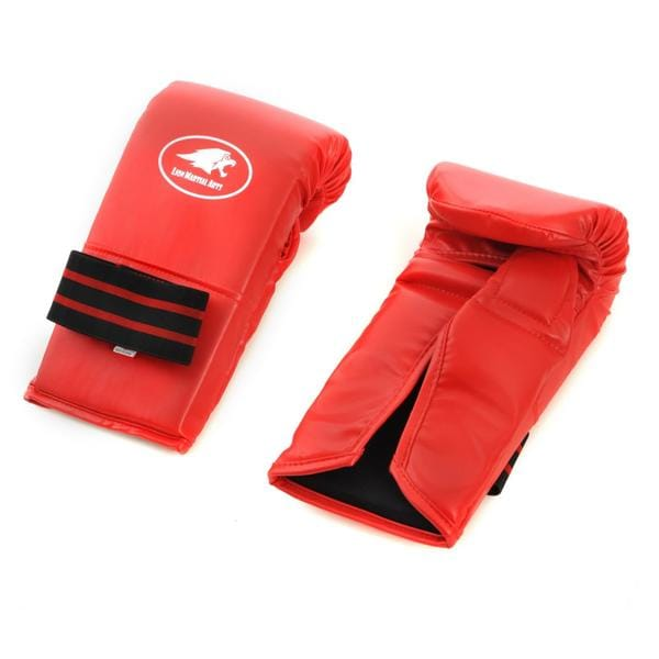 Lion Martial Arts Medium Red Vinyl Punch Glove Pair