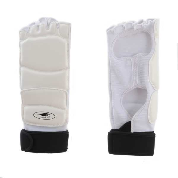 Lion Martial Arts White Large KD Foot Protectors (Set of 2)