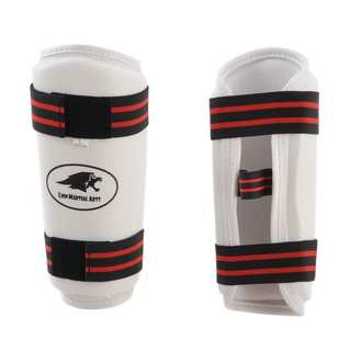 Lion Martial Arts Large White Vinyl Arm Guard Pair
