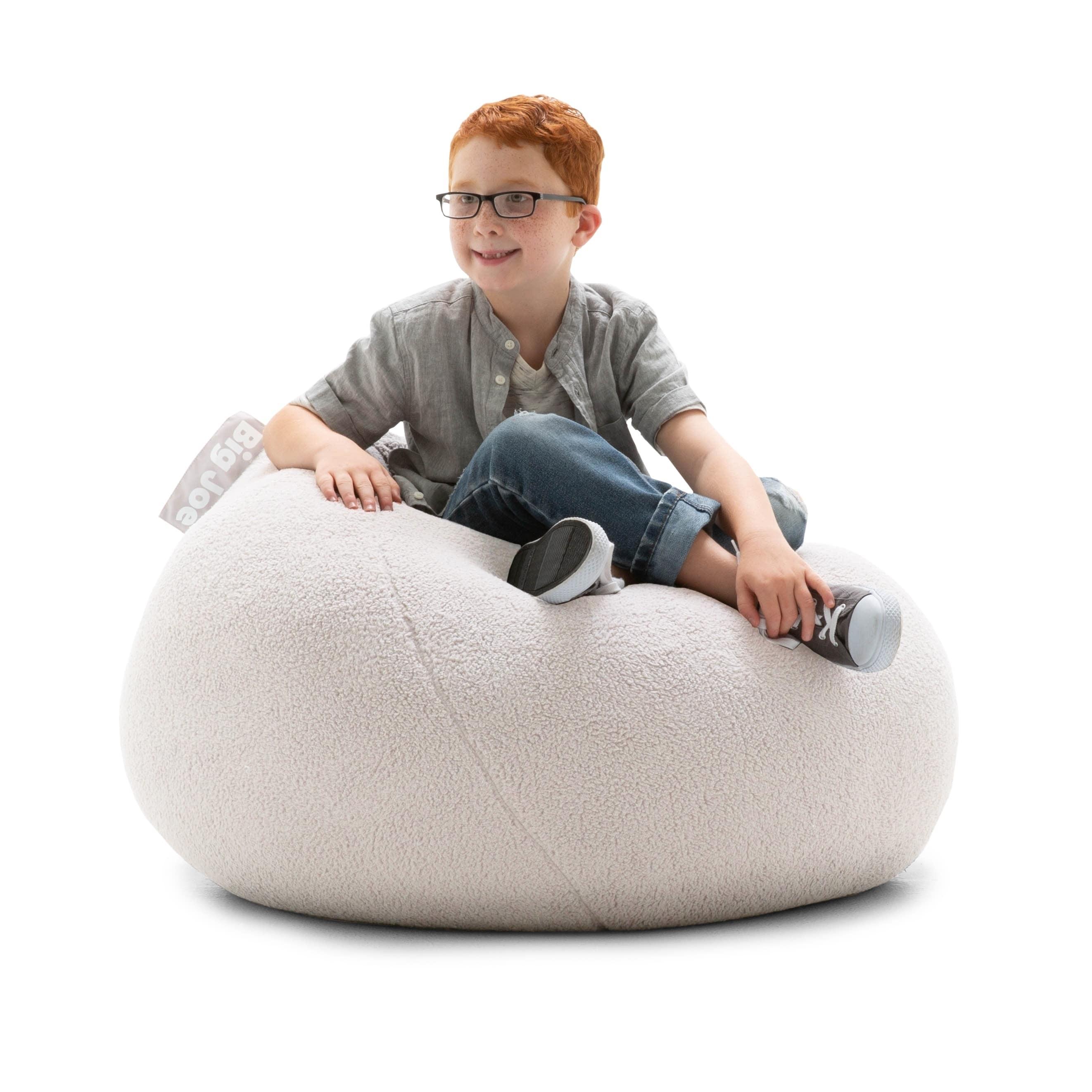 Tremendous Big Joe Ultra Lounge Bean Bag Chair Ivory Sherpa Cjindustries Chair Design For Home Cjindustriesco
