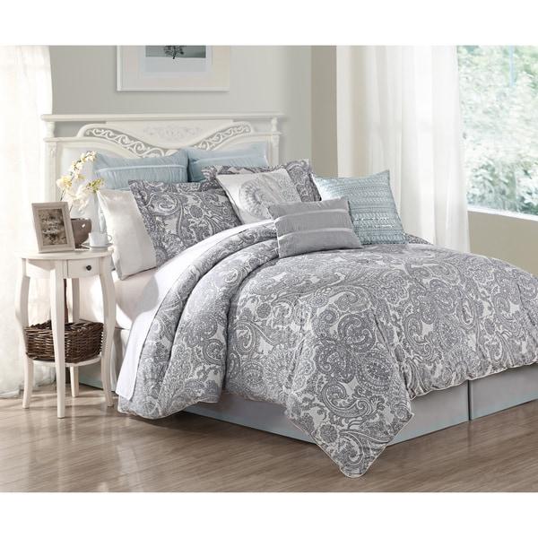 Luxe Lavender 9-piece Comforter Set