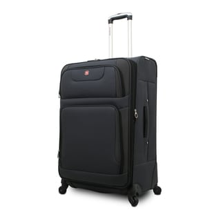 SwissGear SA7297 Grey 24-inch Expandable Spinner Upright Suitcase