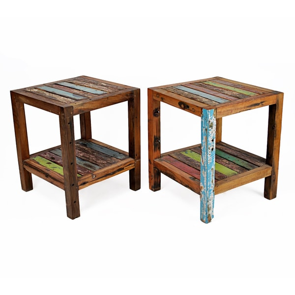 Ecologica Maritima Reclaimed Wood End Table - Ecologica Maritima Reclaimed Wood End Table - Free Shipping Today