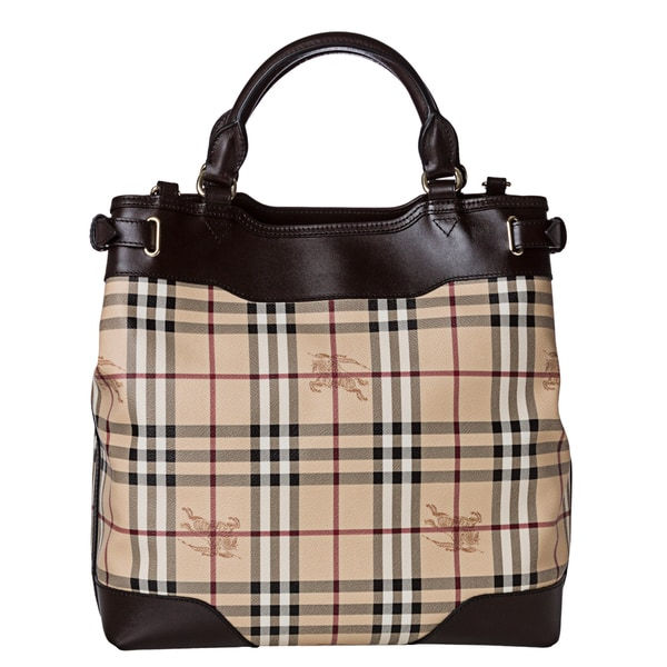 Burberry '3826584' Medium Haymarket Check Tote Bag