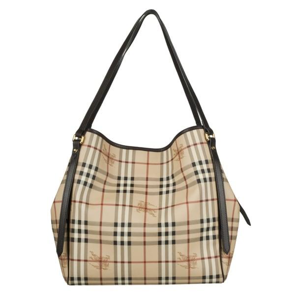 Burberry '3741797' Medium Haymarket Check Tote Bag