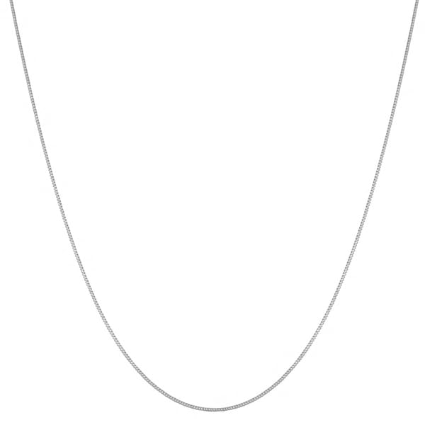 Fremada 14k White Gold Curb Chain (18-20-inch)