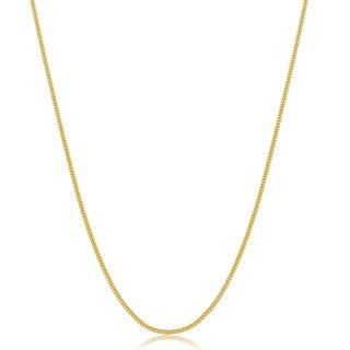 Fremada 10 Karat Yellow Gold 1mm Curb Chain Necklace 16 18 Inch