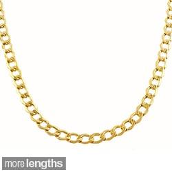 Fremada 10-karat Yellow Gold 3.6mm Semi-solid Curb Chain
