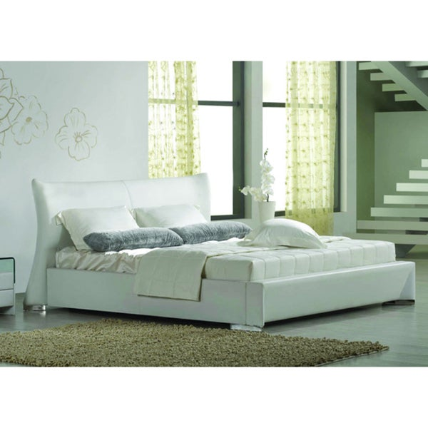 Queen White Platform Bed