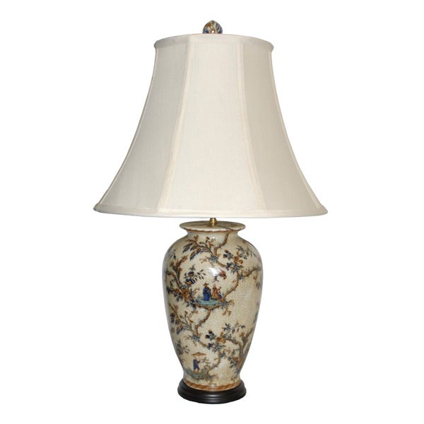 Asian Scene Pattern Table Lamp - Free Shipping Today ...