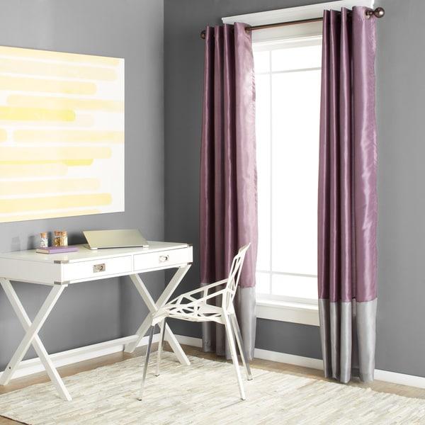 Lush Decor Prima Grey/ Purple 84-inch Curtain Panel Pair