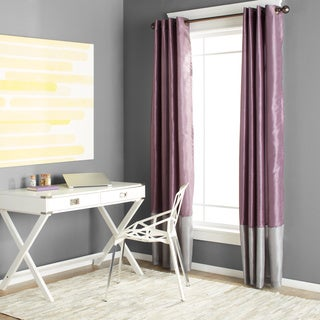 Clay Alder Home Frisco Prima Grey/ Purple 84-inch Curtain Panel Pair