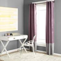 Clay Alder Home Frisco Prima Grey/ Purple 84-inch Curtain Panel Pair