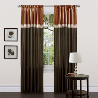 Lush Decor Terra Brown/ Rust 84-inch Curtain Panel Pair (As Is Item)