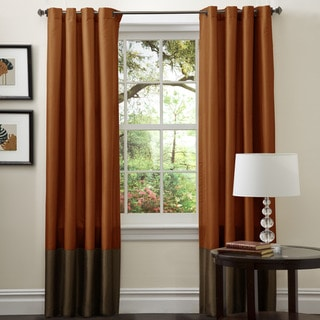 Lush Decor Prima Brown/ Rust 84-inch Curtain Panel Pair