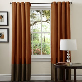 Copper Grove Vindekilde Brown/ Rust 84-inch Curtain Panel Pair