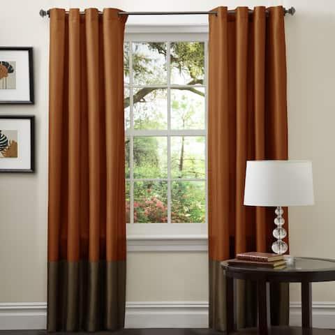 Porch & Den Ryne Brown/ Rust 84-inch Curtain Panel Pair