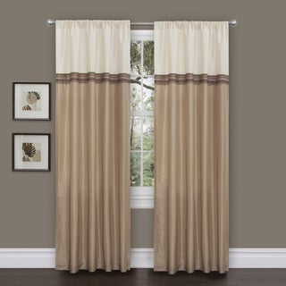 Lush Decor Terra Beige/ Ivory 84-inch Curtain Panel Pair