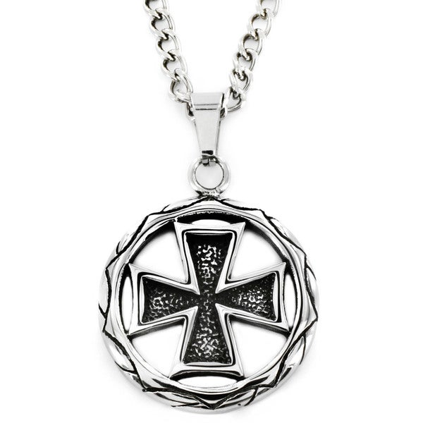 West Coast Jewelry Stainless Steel Celtic Cross Medallion Necklace