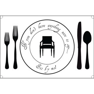 Plat Du Jour 'Sit By Me' Paper Placemats (Pack of 50)