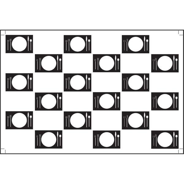 Plat Du Jour 'Small Plates Blanc' Paper Placemats (Pack of 50)