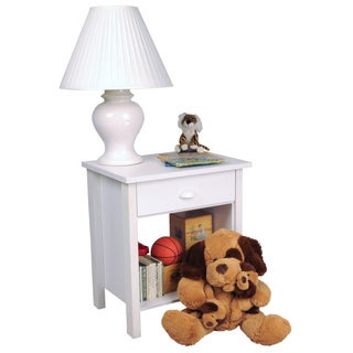 Venture Horizon White Finish Nouvelle Nightstand