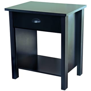 Venture Horizon Black Finish Nouvelle Nightstand