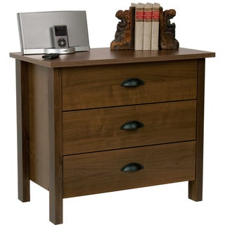 Venture Horizon Walnut Finish 3-drawer Chest