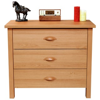 Venture Horizon Oak Finish Nouvelle 3-drawer Chest