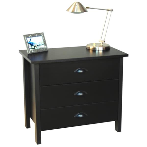 Venture Horizon Black Finish 3-drawer Chest