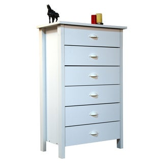 Venture Horizon White Finish 6-drawer Chest