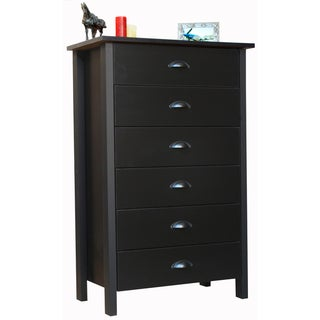 Venture Horizon Black Finish 6-drawer Chest