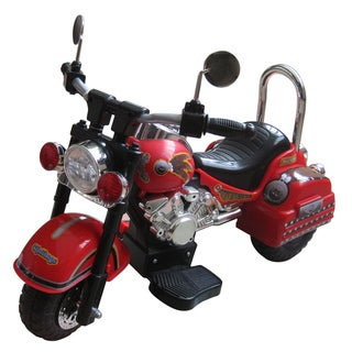 Harley Style Red 6-Volt Motorcycle