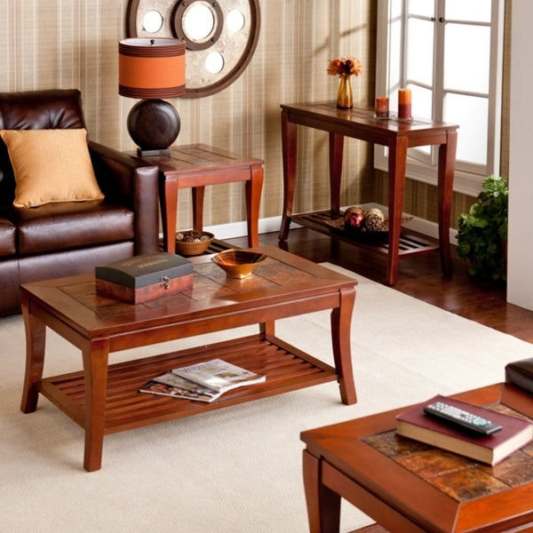 Brown Cherry Slate Table Collection