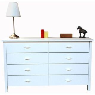 Venture Horizon 8 Storage Drawer Low Boy Nouvelle Dresser - White