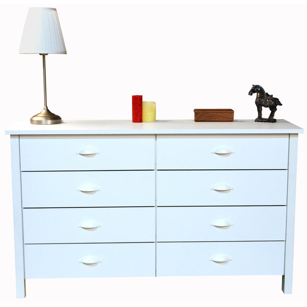 Venture Horizon White Finish 8-drawer Chest