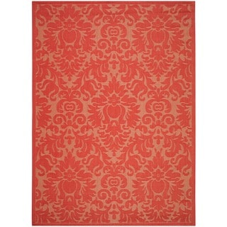 Safavieh St. Barts Damask Red Indoor/ Outdoor Rug