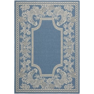 Safavieh Courtyard Blue/ Natural Indoor Outdoor Rug