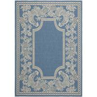 Safavieh Rooster Blue/ Natural Indoor/ Outdoor Rug