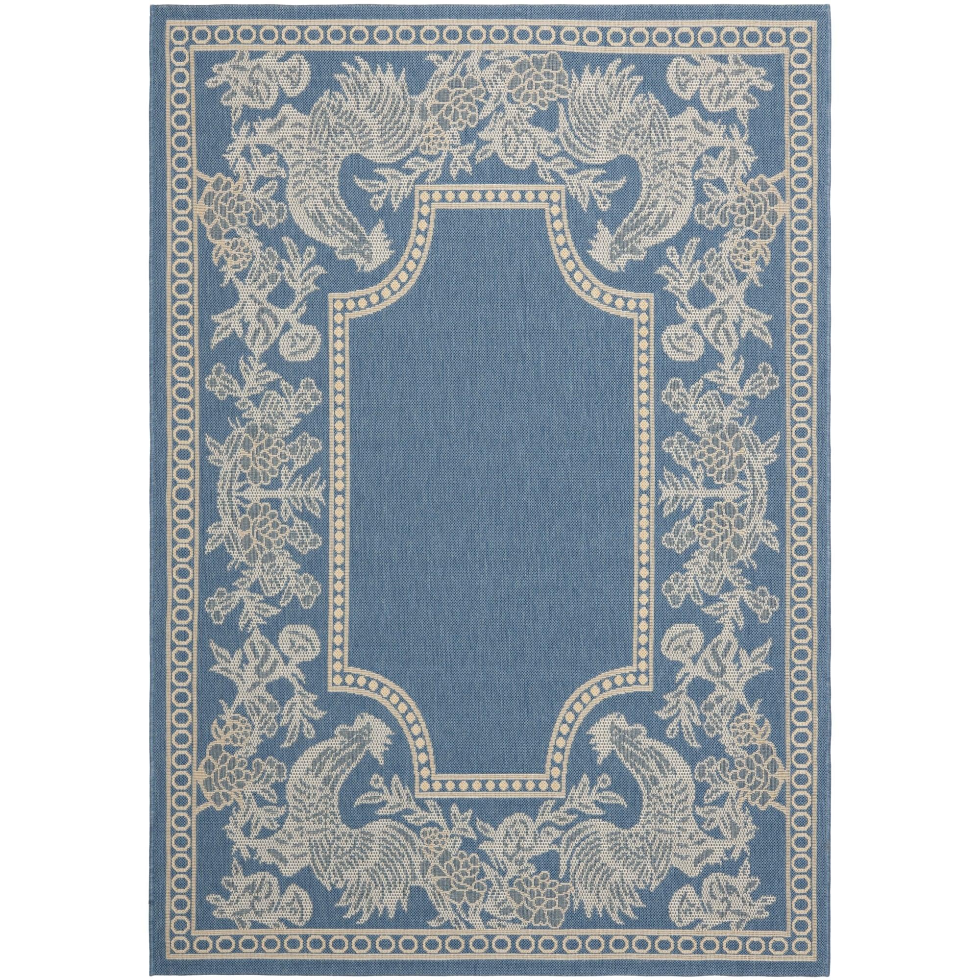 Safavieh Rooster Blue/ Natural Indoor/ Outdoor Rug | eBay